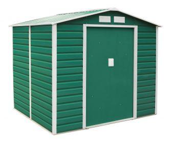EPT stabilna metalna vrtna kućica 407 - 213 x 191 cm (zelena)