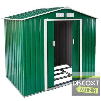 Stabilna metalna vrtna kućica 2,78m2+ postolje/okvir za kućicu (zelena)