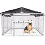 DISCONTMANIA kavez/boks za pse 4x4x2,3m 16 m2 sa krovom