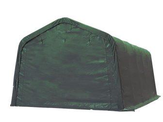 Garažni šator 720g/m2 - 3,3x6,0m - vatrootporna zelena cerada, za betoniranu podlogu