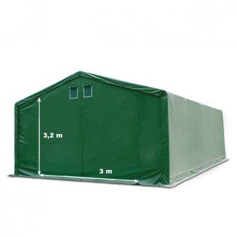 Skladišni šator 4x8m sa bočnom visinom 3m professional 550g/m2