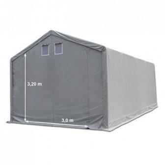 Skladišni šator 4x10m sa bočnom visinom 3m professional 550g/m2