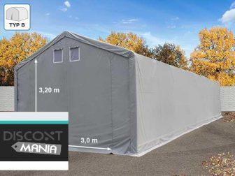 PROFESIONALNI 6x8 ŠATOR ZA PRIREDBE TEŠKE ČELIČNE KONSTRUKCIJE 500g/m2 BIJELO-SIVOM CERADOM