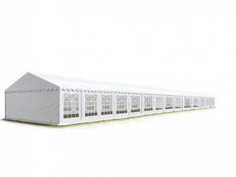 Party šator 6x28m -VATROOTPORNA-bočna visina:2,6m-PROFESSIONAL DELUXE 550g/m2-posebno jaka čelična konstukcija