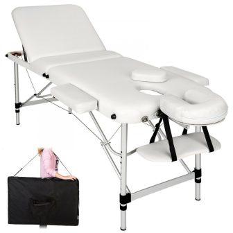 Discontmania 3-zonski aluminijski masažni stol - bijele boje