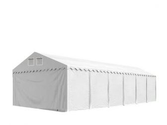 Skladišni šator 8x12m sa bočnom visinom 2,6m, professional 550g/m2 vatrootpornom ceradom