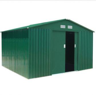 EPT Stabilna metalna vrtna kućica 905 - 311x291 cm (zelena)
