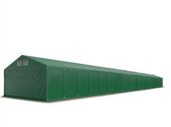 Raktársátor 8x24m professional 2,6m oldalmagassággal, sötétzöld 550g/m2