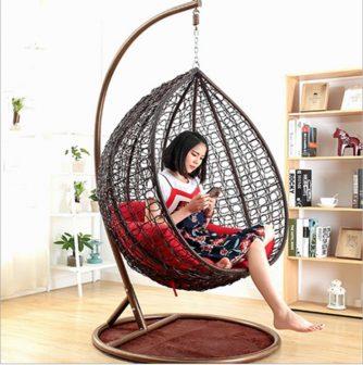 Single hanging chair-black