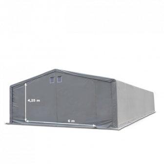 Skladišni šator 8x8m sa bočnom visinom 4m professional 550g/m2