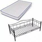 Kompletni krevet - metalni u više boja - 90x200cm - uključuje krevet, madrac i podnicu