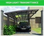 3x5,5m ekstra jak carport / nadstrešnica za auto otporan na oluju do 140 km/h